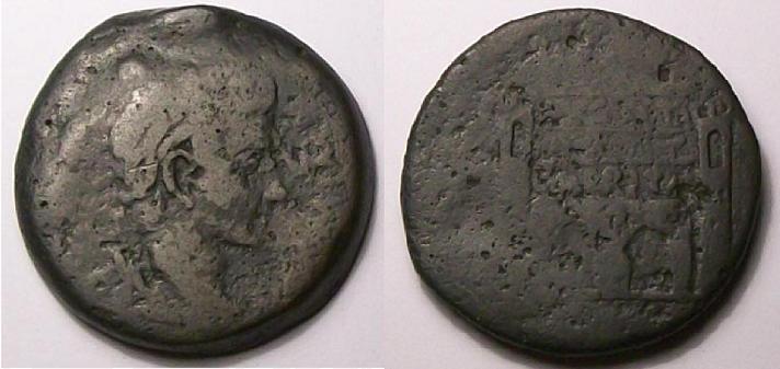 Dupondio de Augusto (Emerita) PERMISSV AVGVSTI. 1124