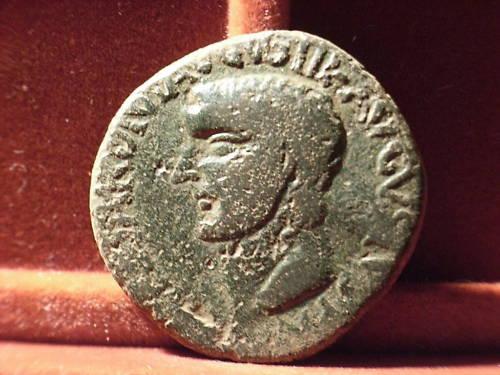As de Cartagonova por Tiberio (con Nerón y Druso). 124