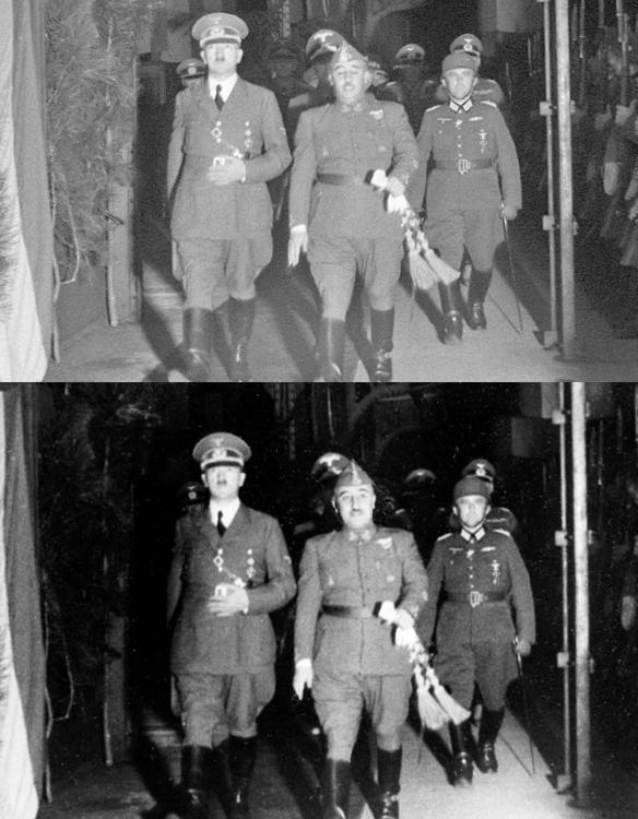 """El encuentro """"retocado"""" de Hitler y Franco. 17911"""