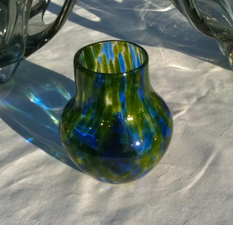 WMF? green / blue glass vase Img_0111