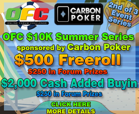 OFC $10K Summer Event Carbon Poker -  2 of 3 Series      Ofc_ca10