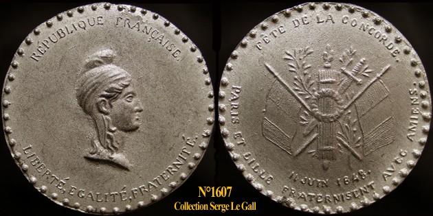Médailles de la Révolution 1848 (pour Lille) 160710