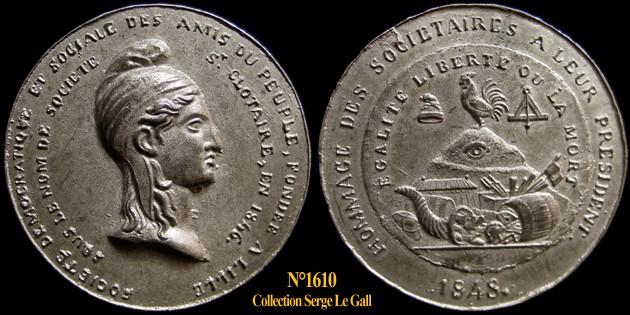 Médailles de la Révolution 1848 (pour Lille) 161010