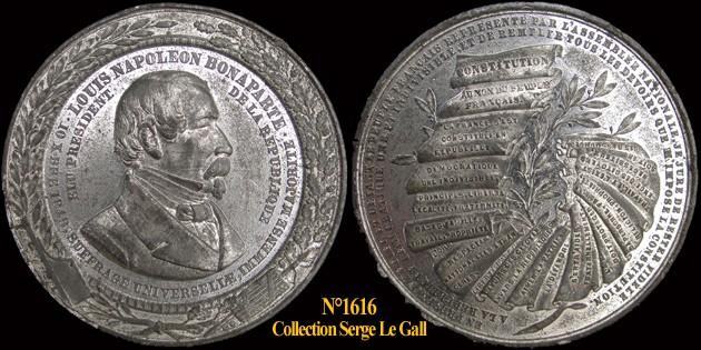 Médailles de la Révolution 1848 161610