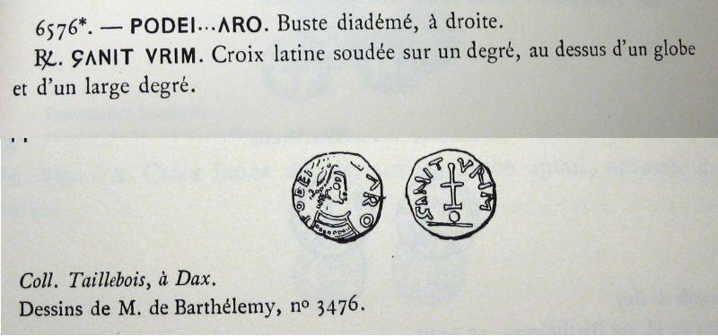 Triens pseudo impérial/royal de style provençal - Belfort 6576 Dt_15910