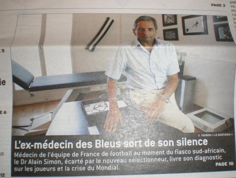 "LES BLEUS VU SOUS L ""ASPECT MEDICAL  Imgp1924"