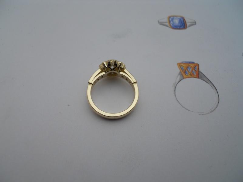 Bague entourage diamants........ 04910
