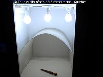 Chambre blanche pour photo de bijoux presque sans ombre portée Chambr13