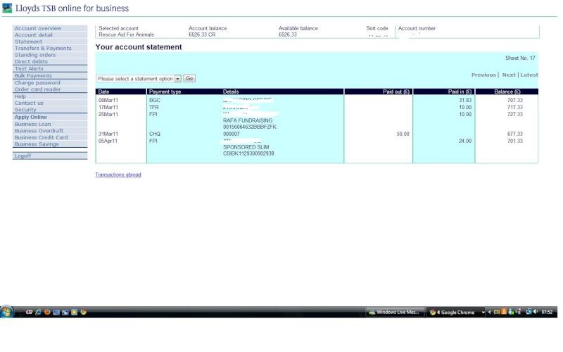 RAFA Bank Account Bank_a10