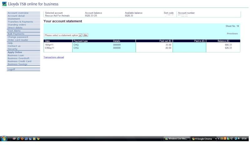 RAFA Bank Account Bank_a11