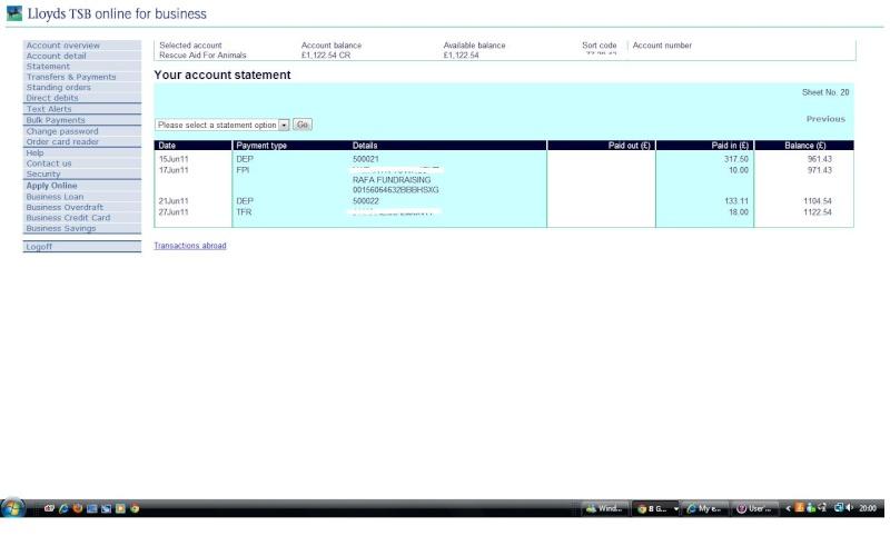 RAFA Bank Account May_ju11