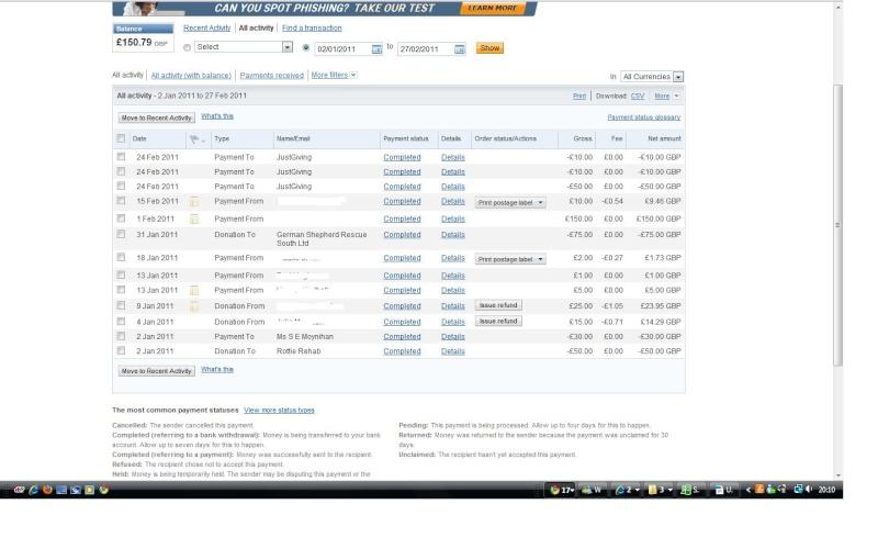 RAFA Paypal Account Paypal12