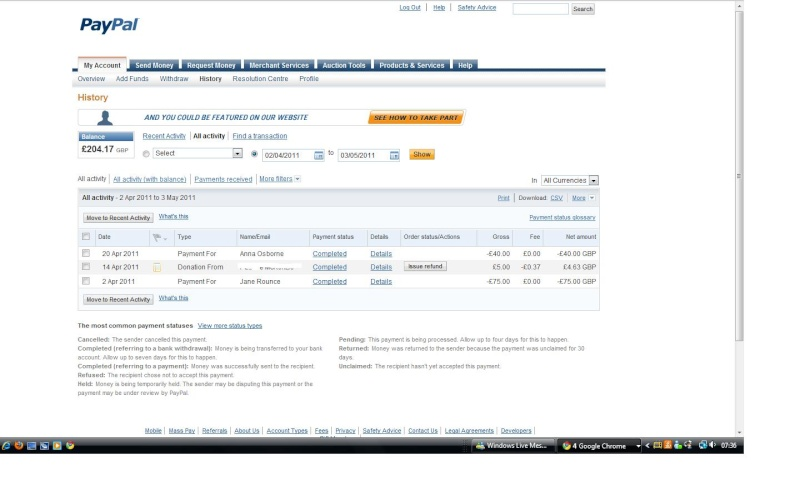 RAFA Paypal Account Paypal13