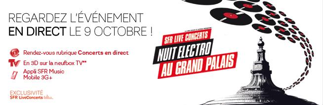 Nuit Electro au Grand Palais en 3D sur la neufbox Sfr10
