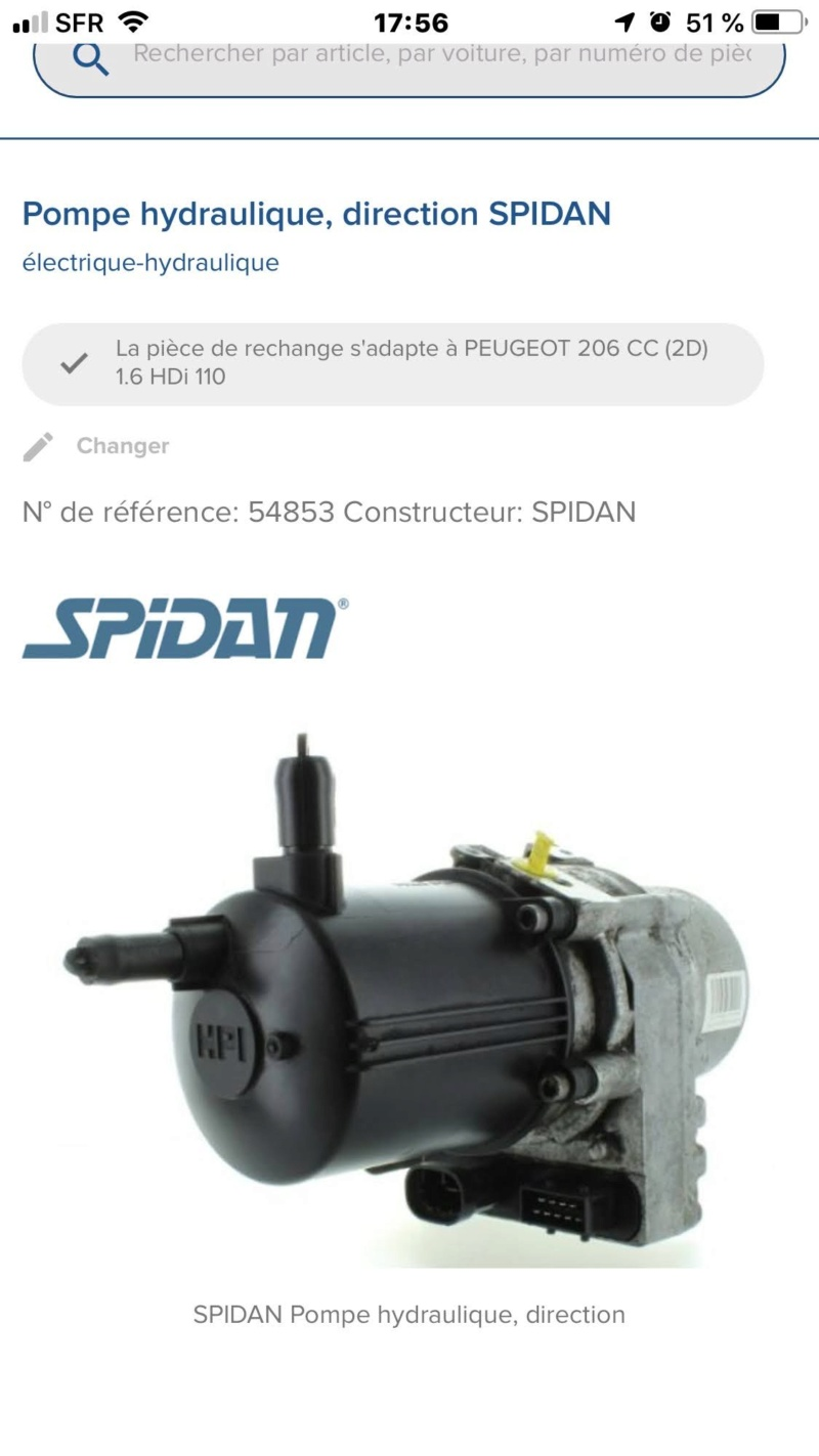 Huile de direction pour 206 cc hdi électrique hydraulique  Img_5512