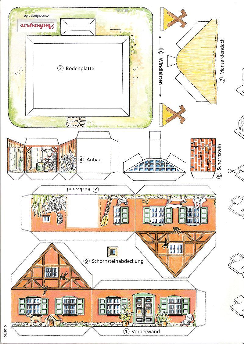"""Werbemodell """"Haus mit Reetdach"""" von Auhagen A10"""