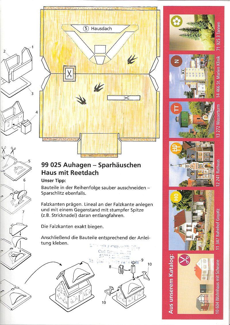"""Werbemodell """"Haus mit Reetdach"""" von Auhagen B10"""