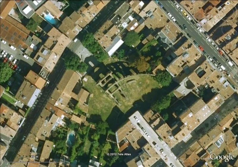 Antiquités romaines sous l'oeil de Google Earth Palais10