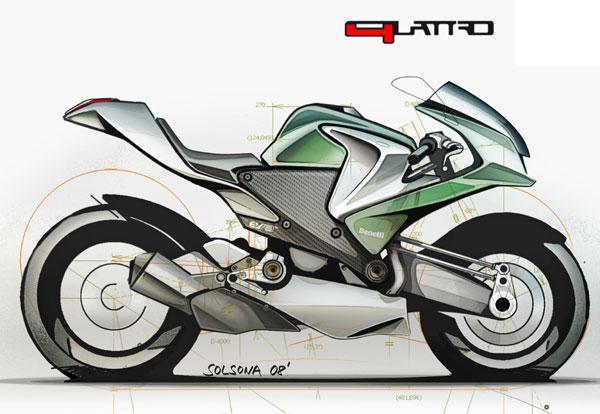Benelli Quattro 600RR sur Papier Bozzet10
