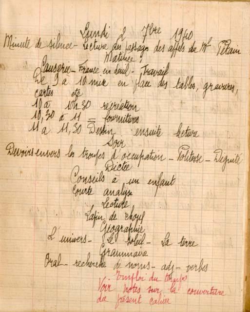 cahier du maitre d'une école de campagne Cahier11
