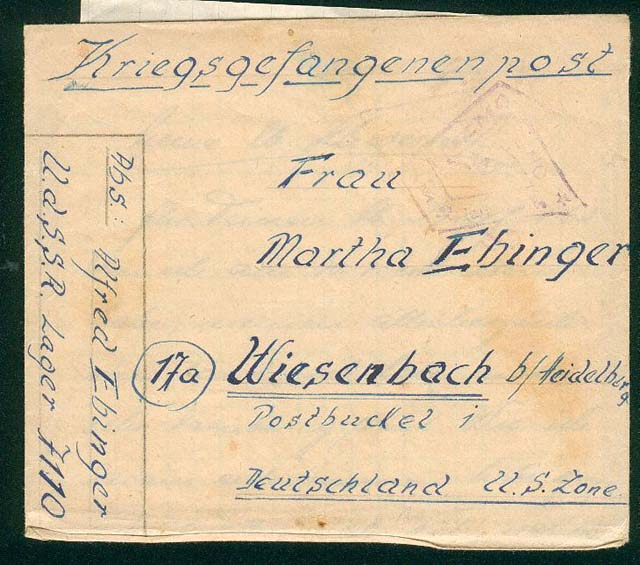 lettre de prisonnier allemand en urss Lettre16