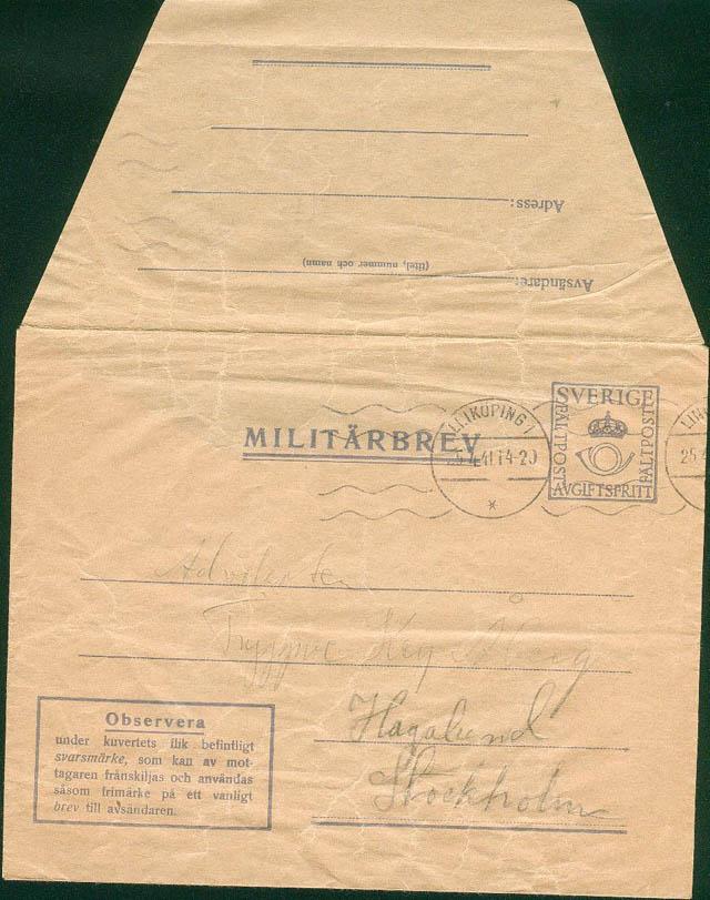courrier franchise militaire suède Suade10