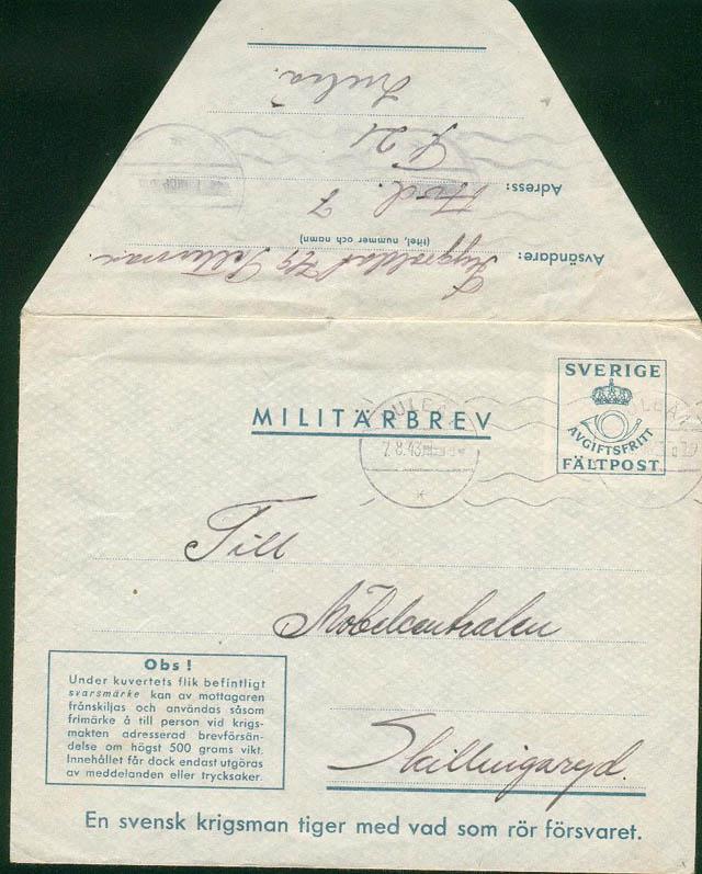 courrier franchise militaire suède Suade_11