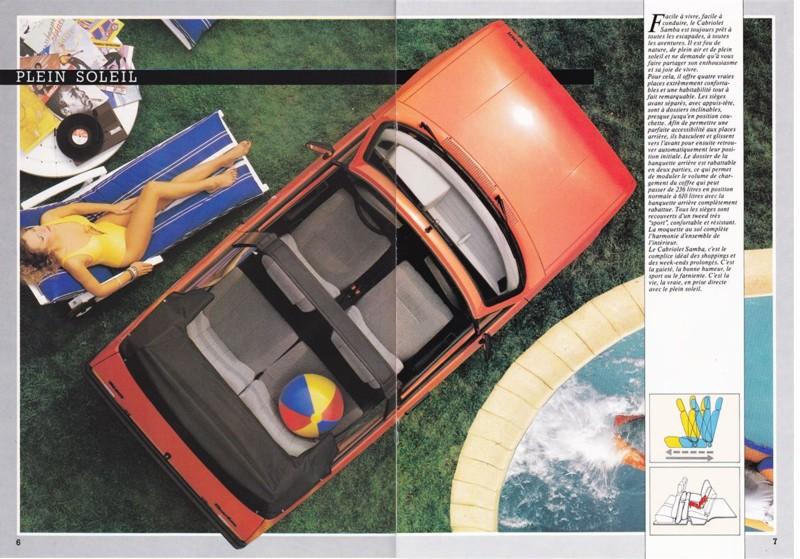 Catalogue commercial Samba Talbot Cabriolet 1983 Samba816