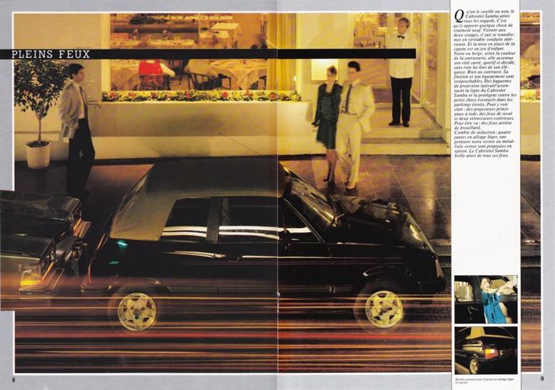 Catalogue commercial Samba Talbot Cabriolet 1983 Samba817