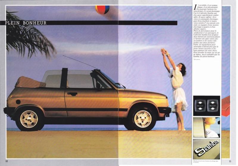 Catalogue commercial Samba Talbot Cabriolet 1983 Samba818