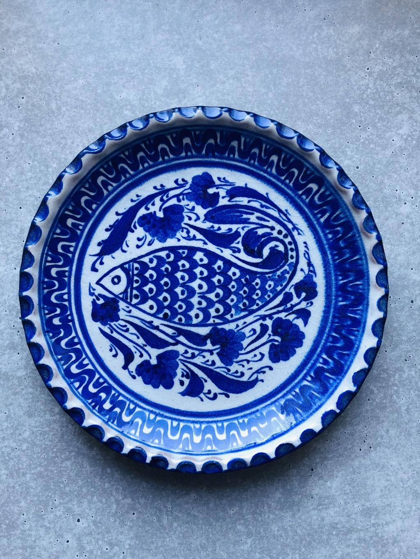 Assiette décor poisson signée 374d0c10
