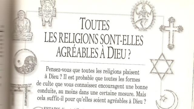 Toutes les religions sont elles agréables à Dieu? Numari19