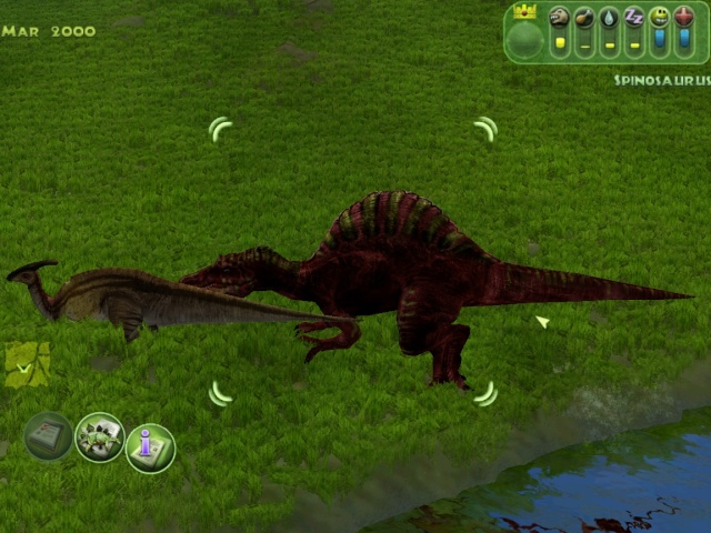 Spino Pair up [Even shows the Leader!] and same species Carnivores don't fight Simjp_15