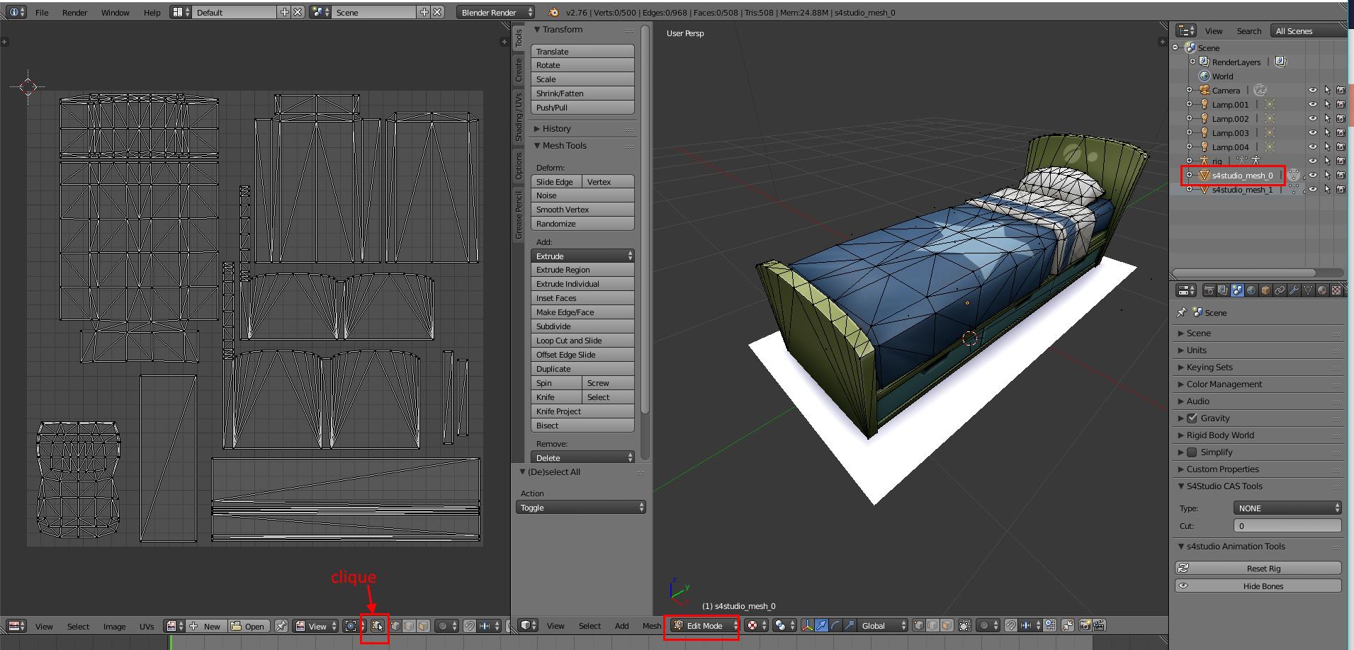 [Sims 4/Blender - Création d'un mesh] Aide à la création d'un nouveau mesh 3D 120