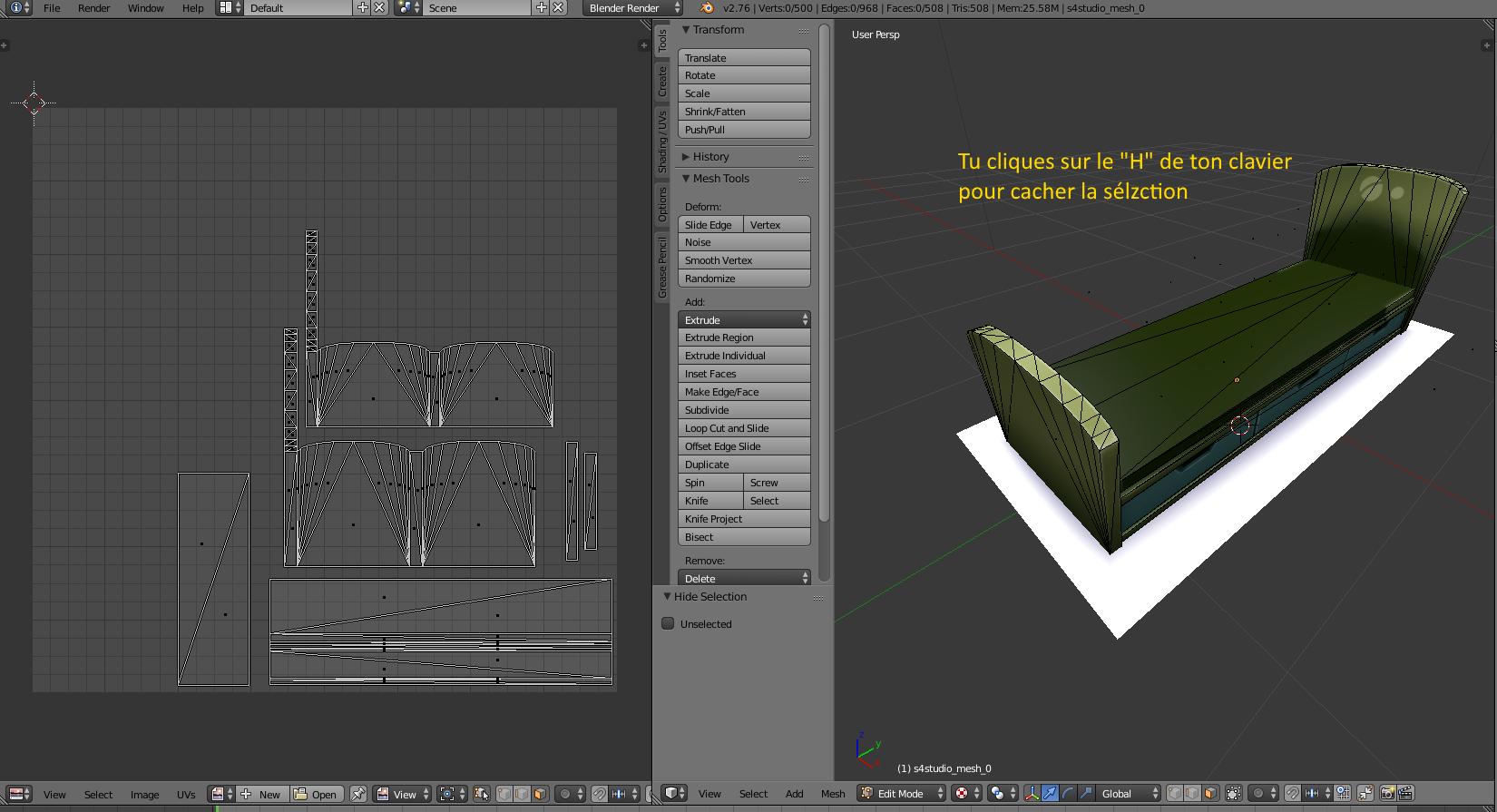 [Sims 4/Blender - Création d'un mesh] Aide à la création d'un nouveau mesh 3D 320