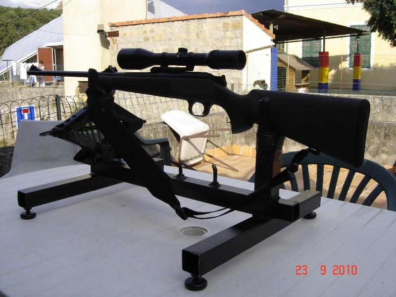 Réglage carabine Support de tir chevalet fait maison 0 euro Suppor10