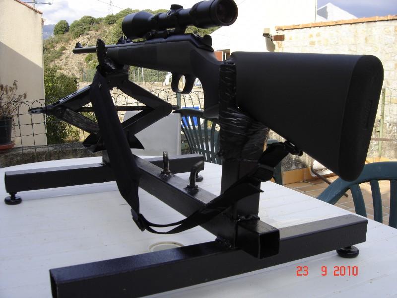 Réglage carabine Support de tir chevalet fait maison 0 euro Suppor11