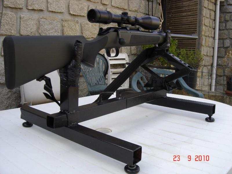 Réglage carabine Support de tir chevalet fait maison 0 euro Suppor12