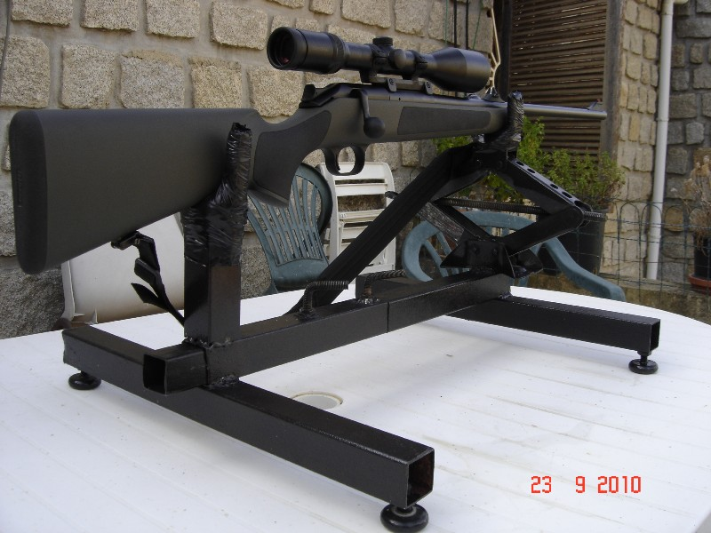 chevalet de tir - Réglage carabine Support de tir chevalet fait maison 0 euro Suppor12