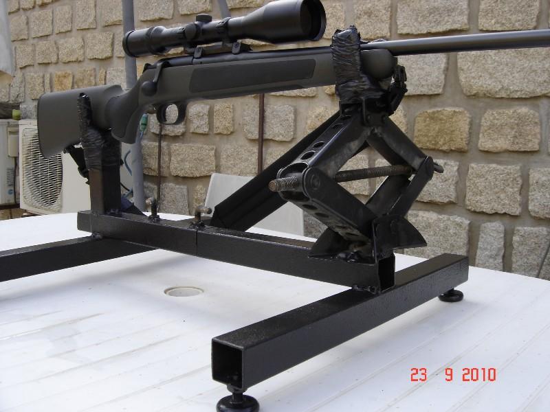 Réglage carabine Support de tir chevalet fait maison 0 euro Suppor13