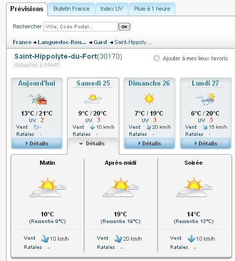 le 25/26 Septembre 2010 Rencontre à St Hippolyte du Fort  - Page 6 Meteo10