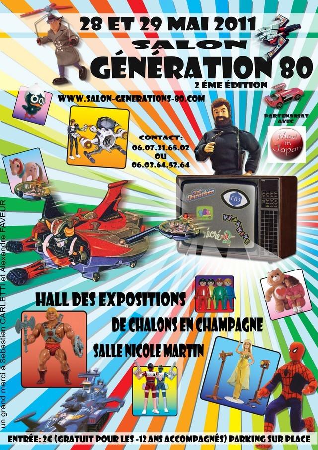 Salon Génération 80 de Chalons en Champagne. Affich10