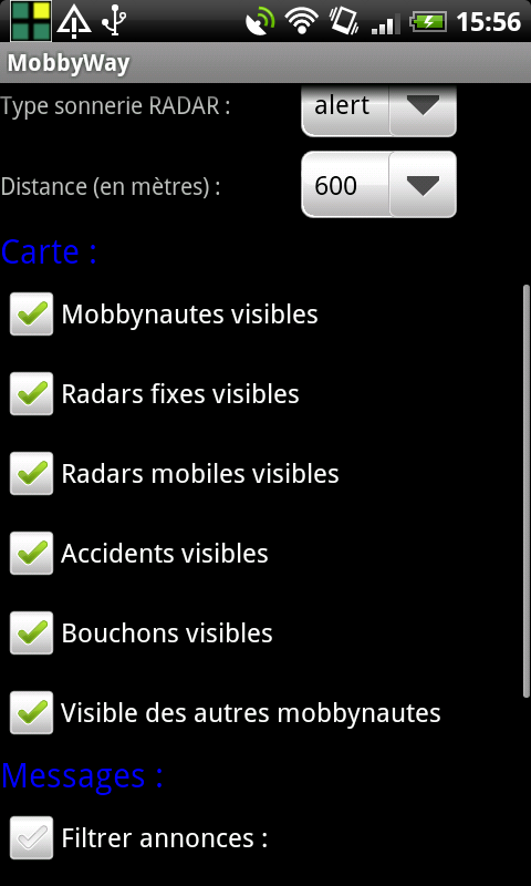 [INFO] Visiblité sur le Livetracking Device10