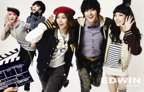 Kim Bum and miss A for EDWIN Bum213
