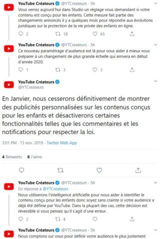 Nouvelle réglementation dur YouTube loi COPPA  Screen10