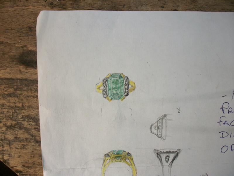 Bague émeraude 8 carats et bts 0,20 carats Md000114