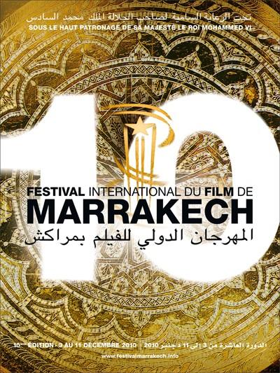 L'affiche officielle du Festival International du Film de Marrakech 2010 Affich11