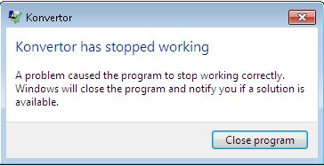 Konvertor Crashes Frequently Stope_10