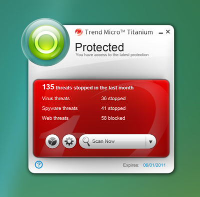 Trend Micro Titanium Maximum Security 2011 3.0.0.1400 64285110