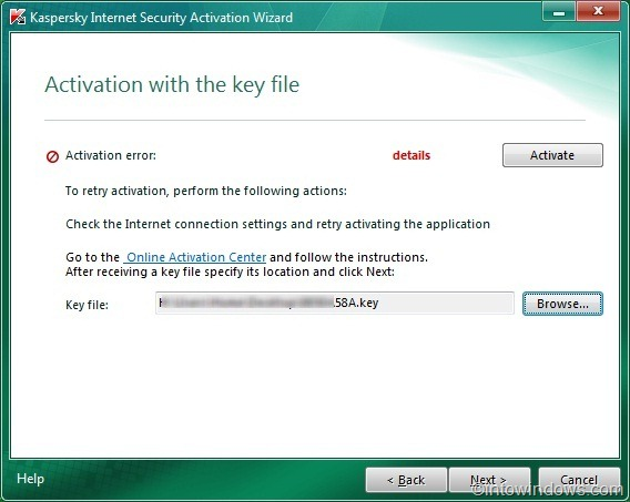 How To Activate Kaspersky Internet Security 2011 Offline With Key File Activa15